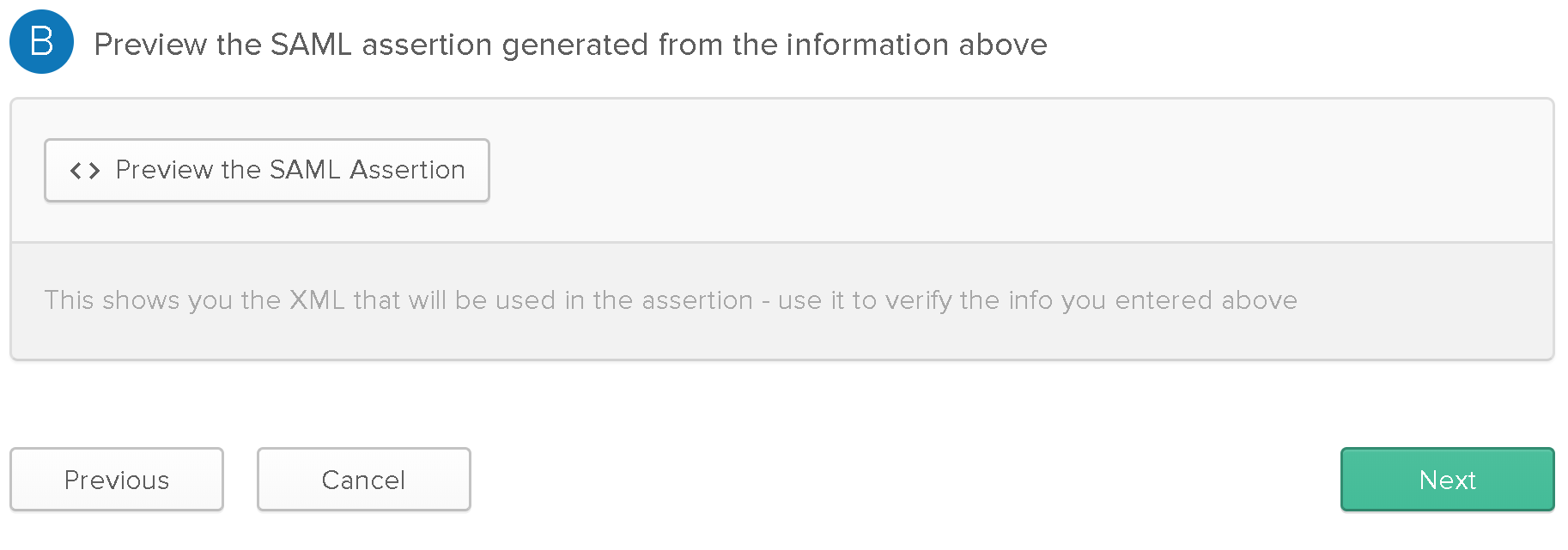 Identity and access management > SAML authentication