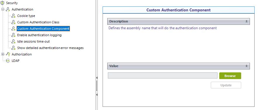 Bizagi Studio > Security definition > Work Portal Security