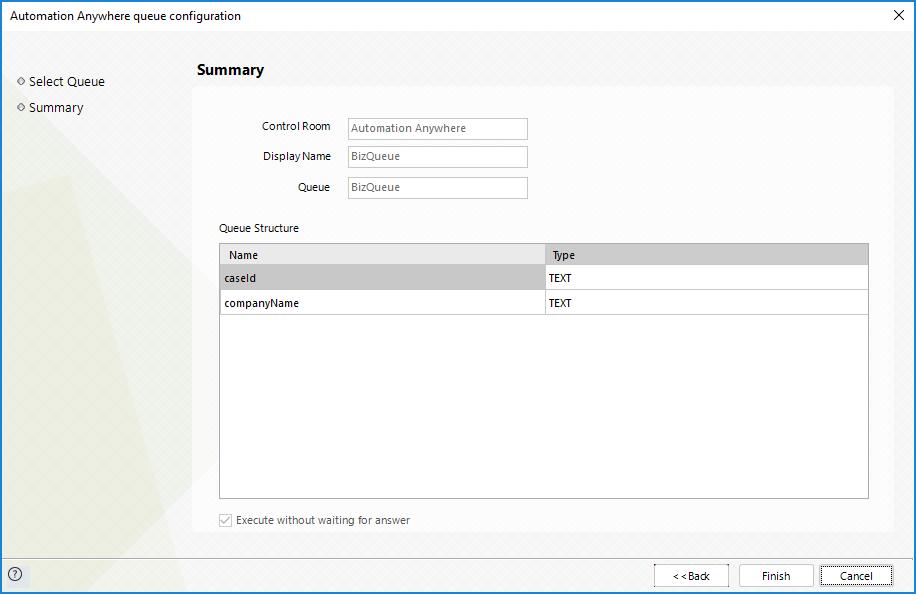 Bizagi Studio > Bots > Automation Anywhere bot integration