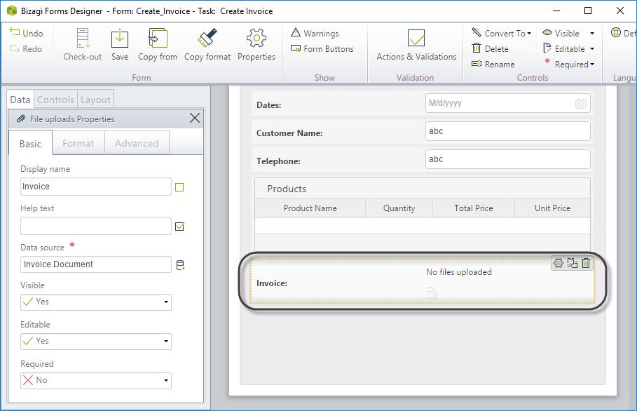 Bizagi Studio > Document Templates > Define how to generate the ...