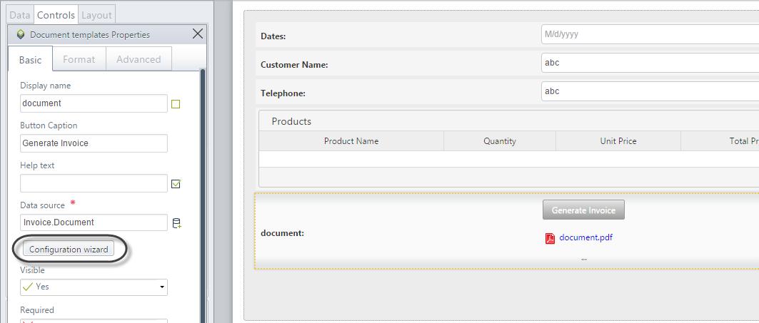 document templates