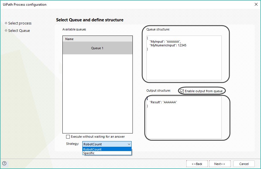 Bizagi Studio > Bots > UiPath bot integration