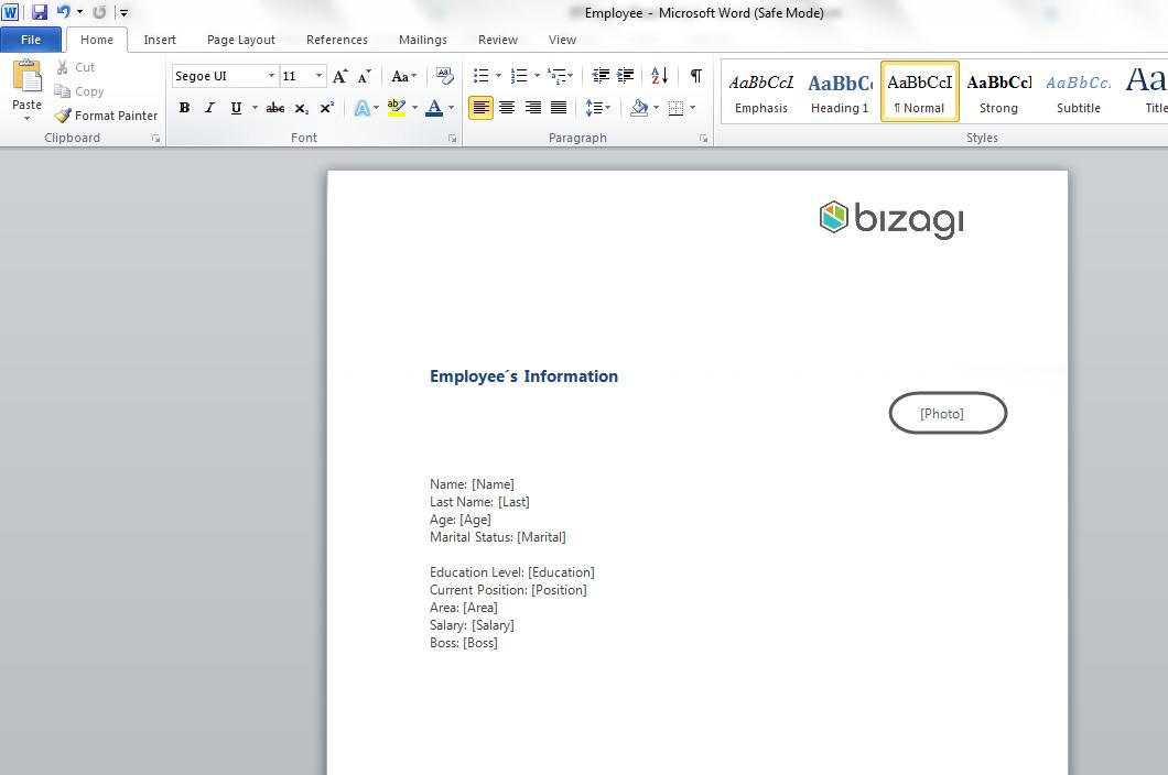 Bizagi Studio > Plantillas de Documentos > Temas avanzados de ...